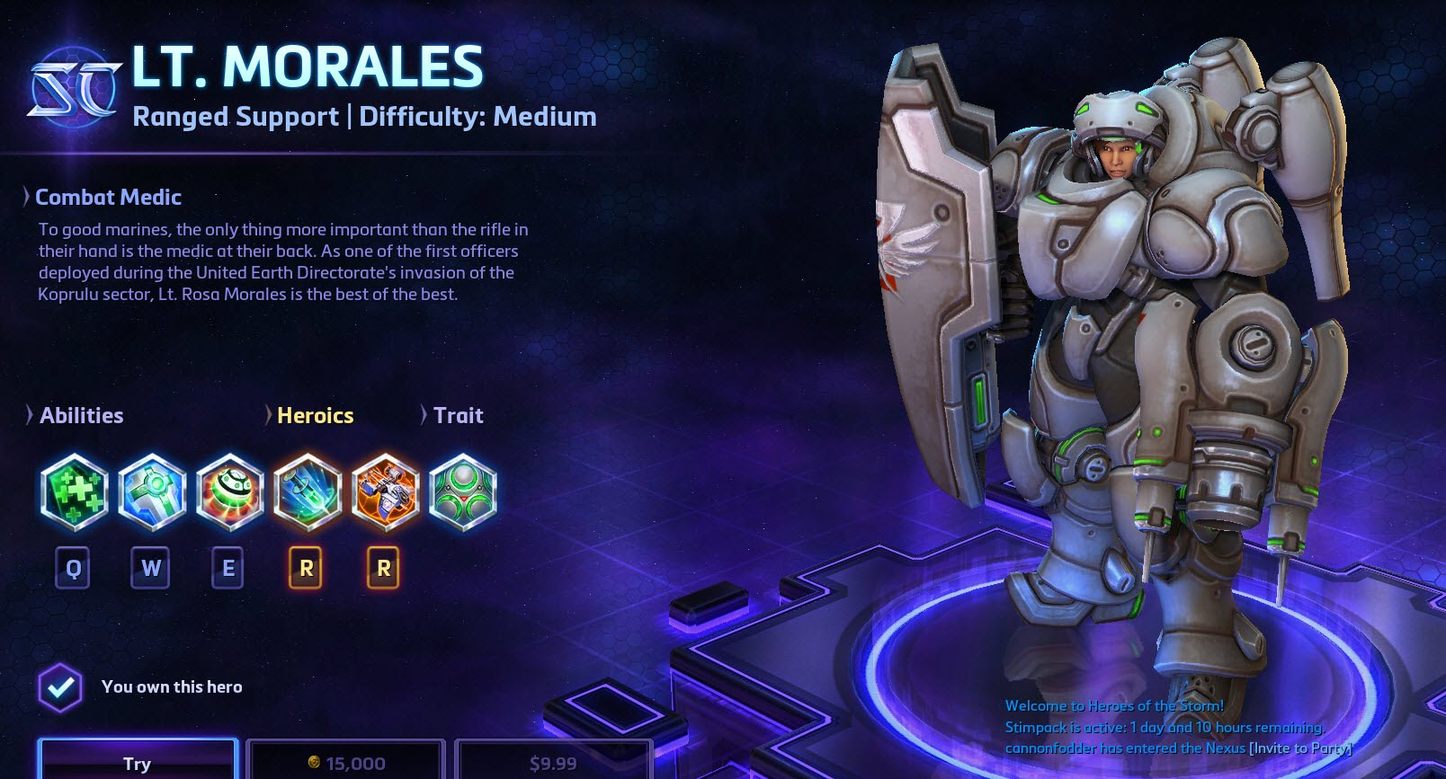 Heroes of the Storm Lt. Morales Hero