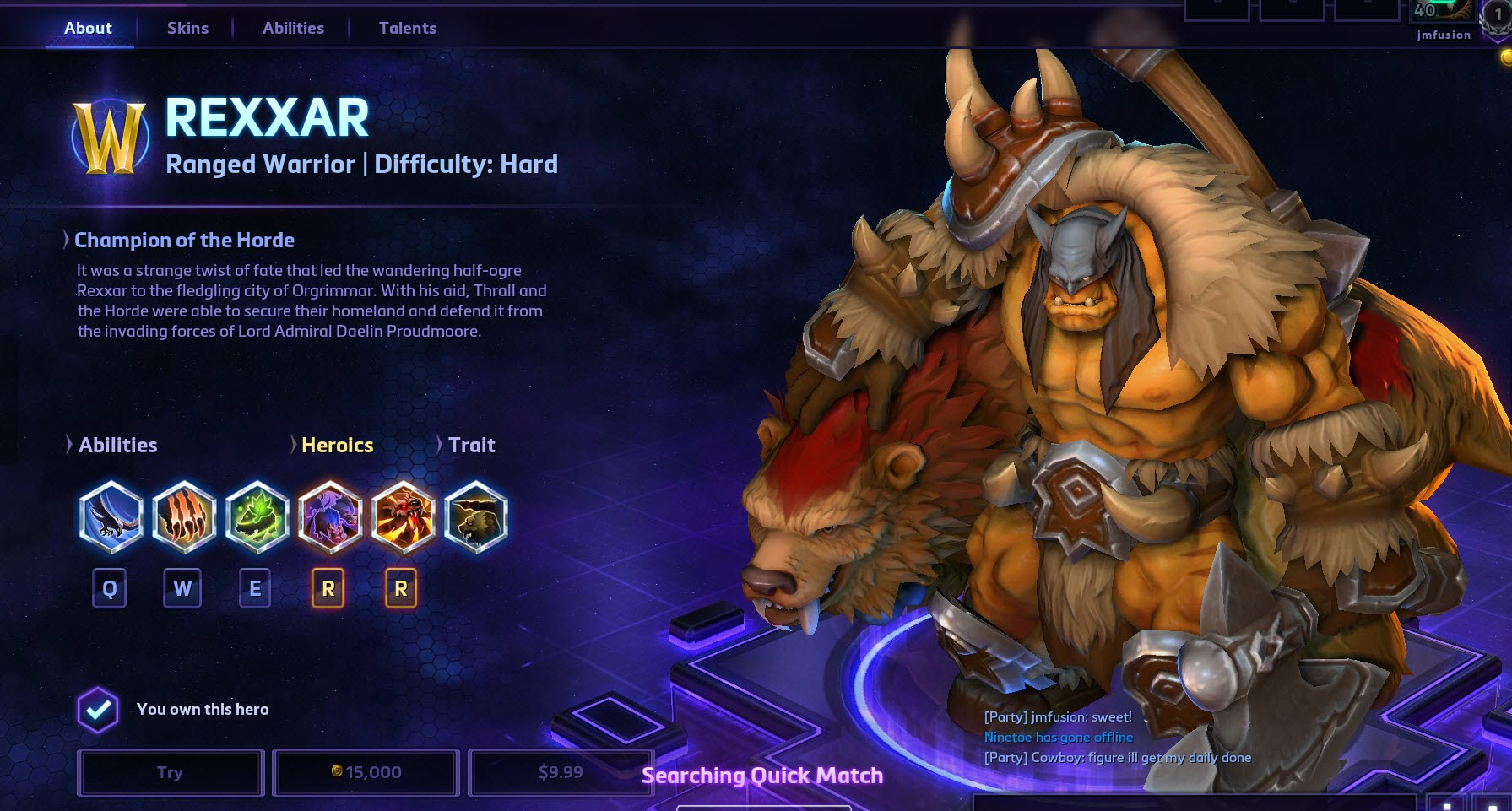 Heroes of the Storm Rexxar Hero