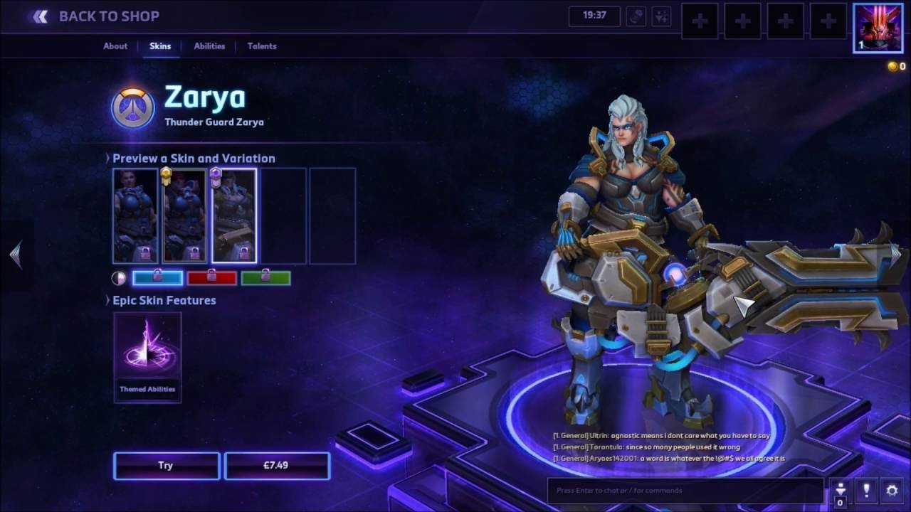 Heroes of the Storm Zarya Hero