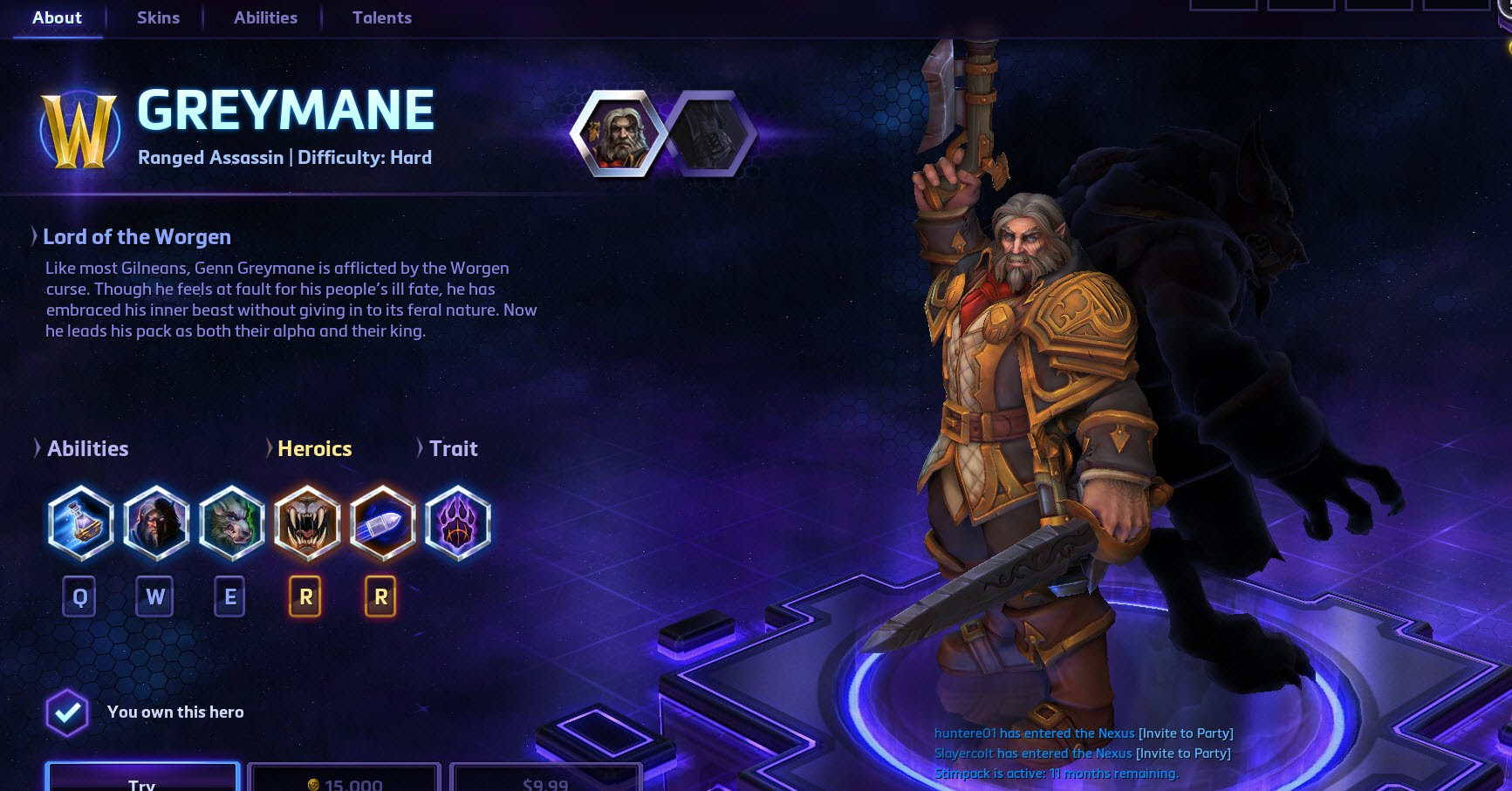 Heroes of the Storm Greymane Hero