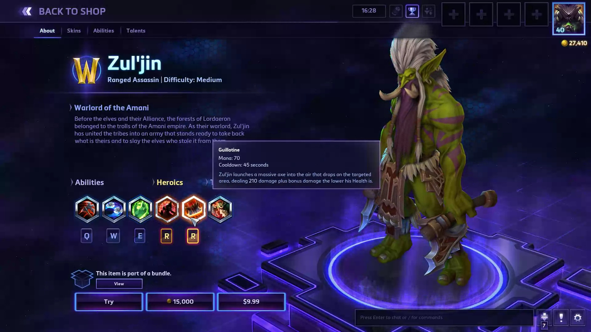 Heroes of the Storm Zul'jin Hero