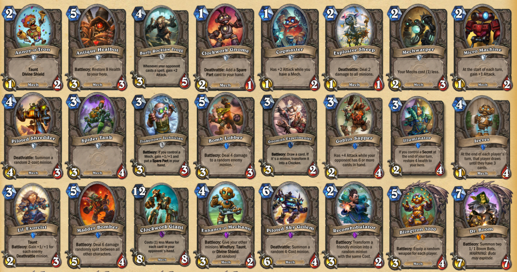 Hearthstone Cards Collection